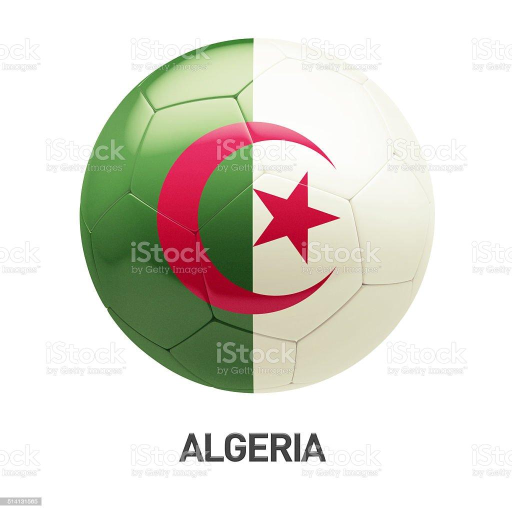 Algeria Flag Soccer Icon stock photo