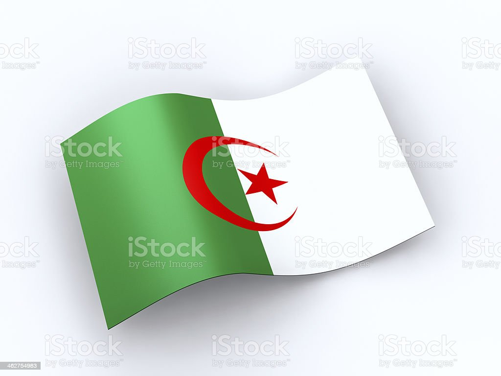 Algeria flag  with clipping path stock photo