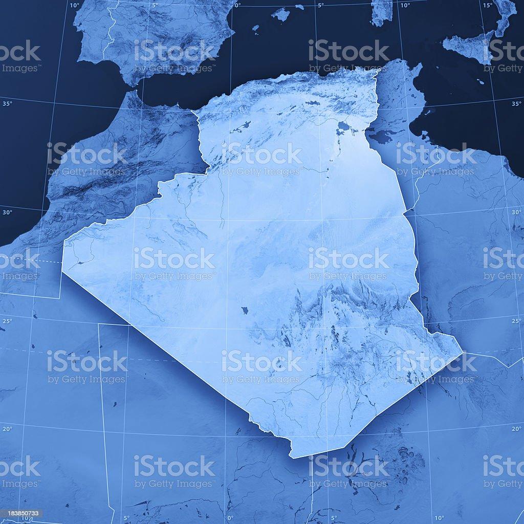Algeria Topographic Map stock photo