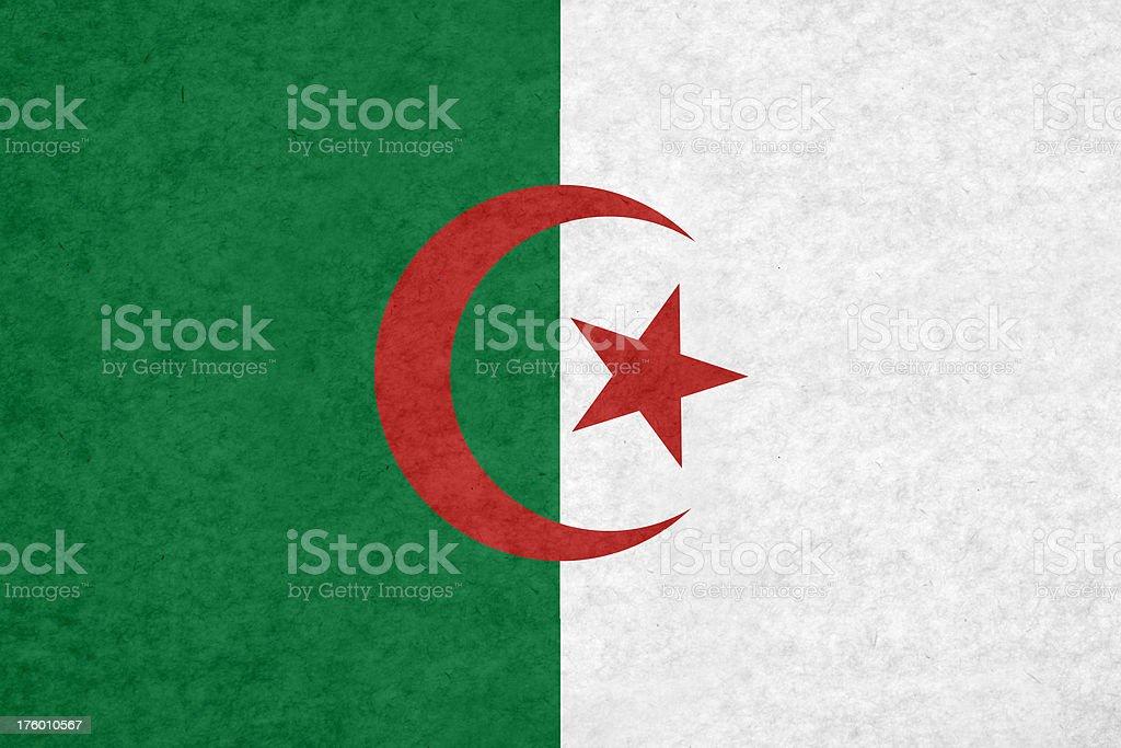 Algerian flag stock photo
