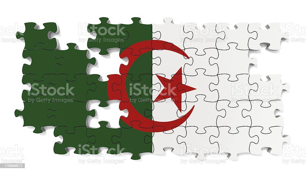 Algerian National Flag royalty-free stock photo
