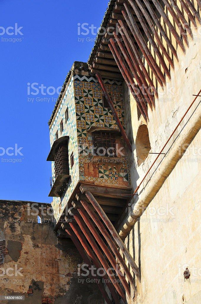 Algiers, Algeria: balcony in the Citadel - Kasbah stock photo