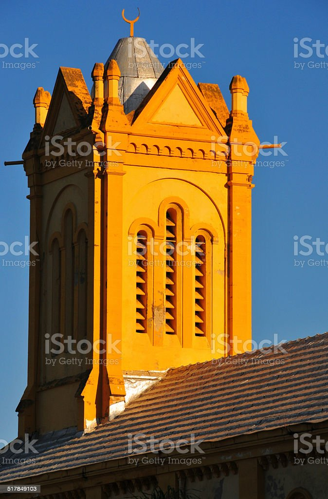 Algiers, Algeria: bell-tower with crescent stock photo