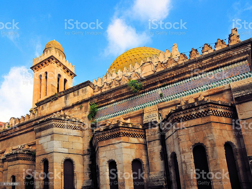 Algiers, Algeria: Ketchaoua mosque bell-tower and dome stock photo