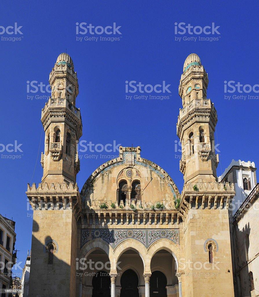 Algiers, Algeria: Ketchaoua mosque facade royalty-free stock photo