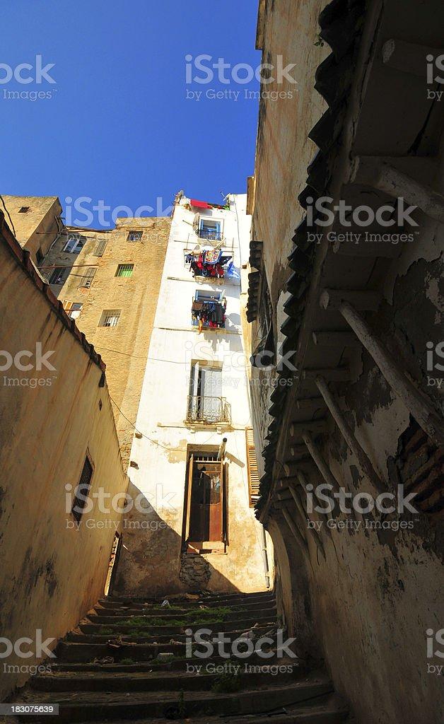 Algiers, Algeria: narrow alley - Kasbah stock photo
