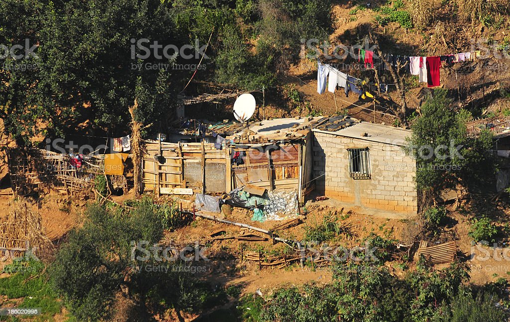 Algiers, Algeria: squatter shack in the shanty town stock photo