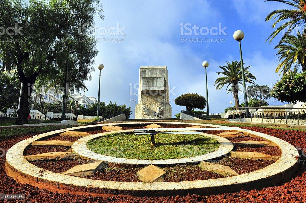 Algiers, Algeria: stone clock stock photo