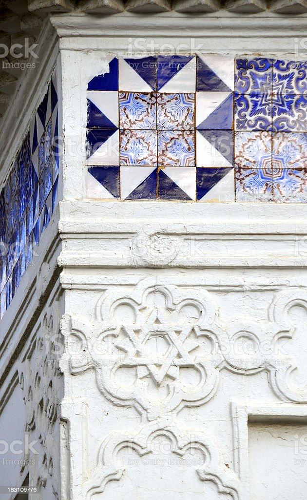 Algiers, Algeria: tiles and star of David - Grand Mosque stock photo