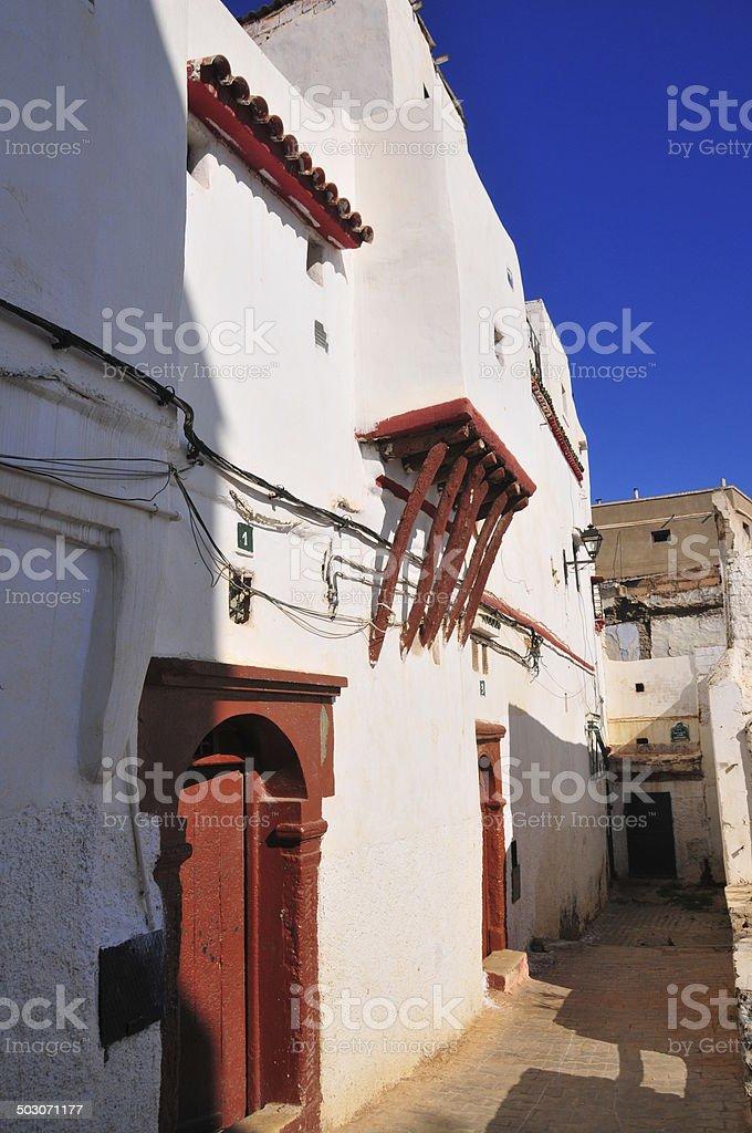 Algiers casbah - the white city stock photo
