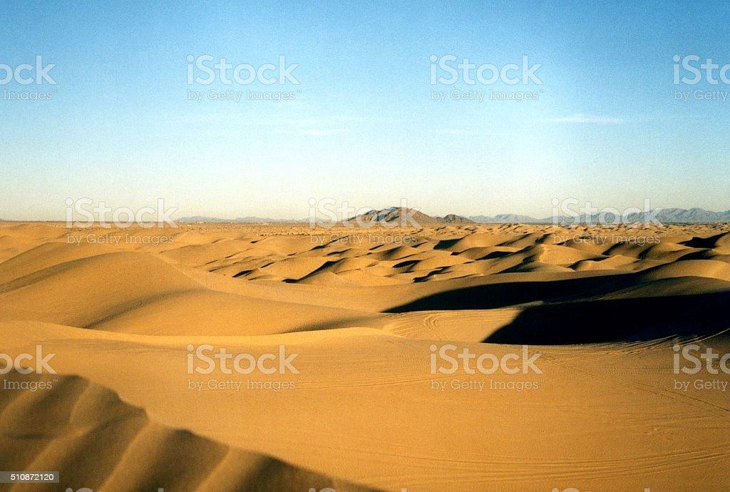 Algodones dunes, Southern California stock photo