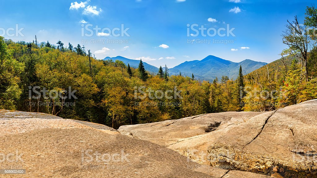 Algonquin Peak as viewed from Mt Marcy hiking trai stock photo