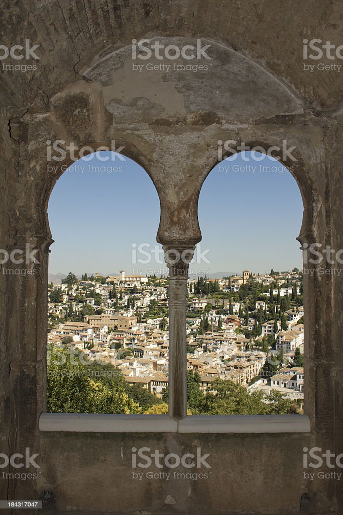 Alhambra and Granada royalty-free stock photo