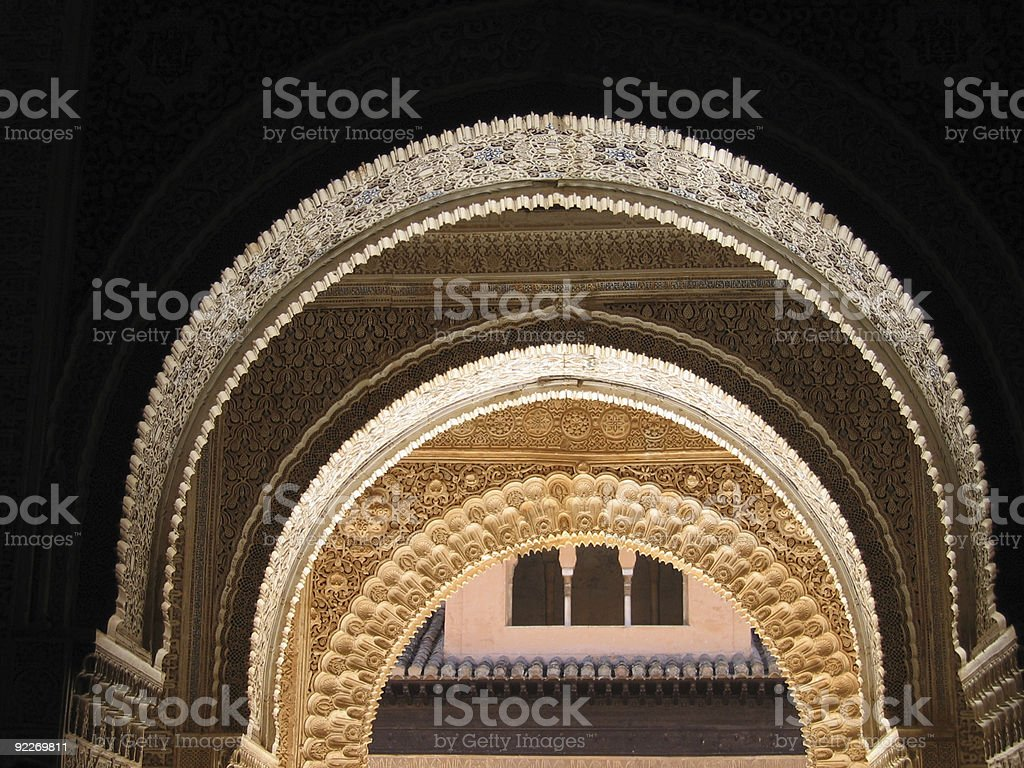 Alhambra Arches royalty-free stock photo