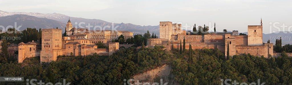 Alhambra at Sunset stock photo