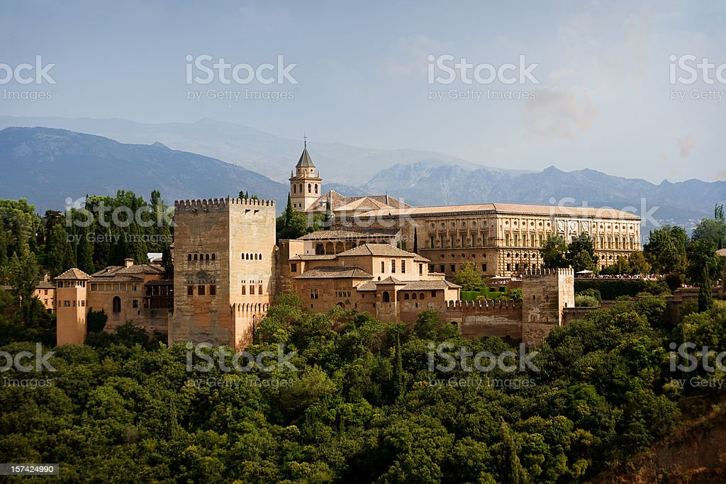 Alhambra Castle view royalty-free stock photo