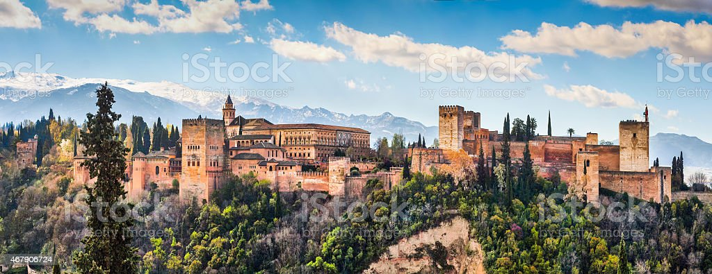 Alhambra de Granada, Andalusia, Spain stock photo