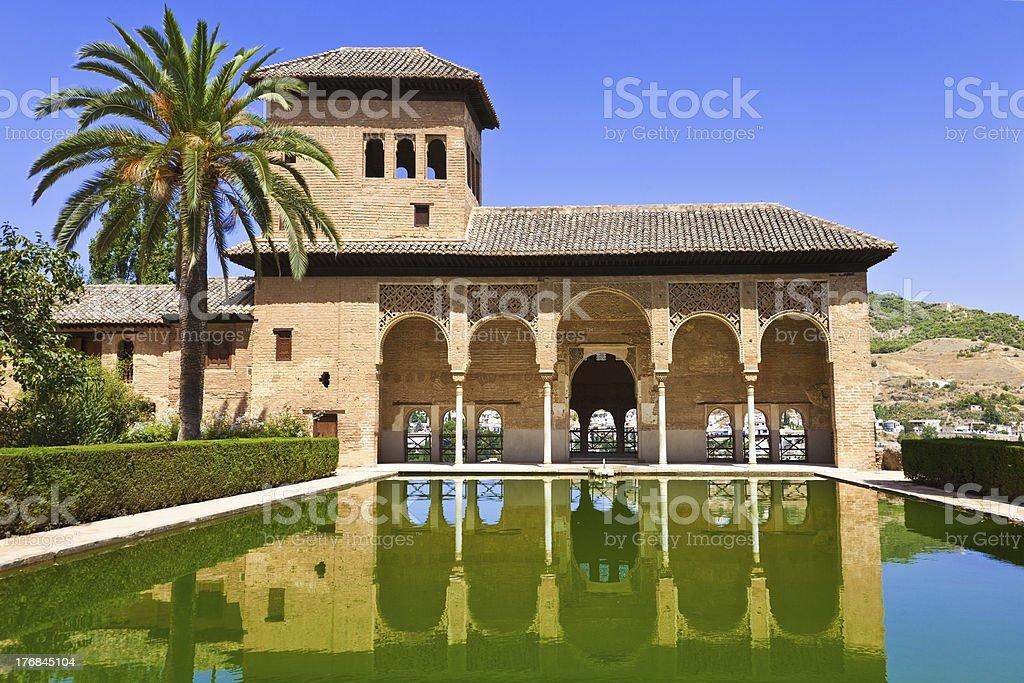 Alhambra de Granada. El Partal royalty-free stock photo