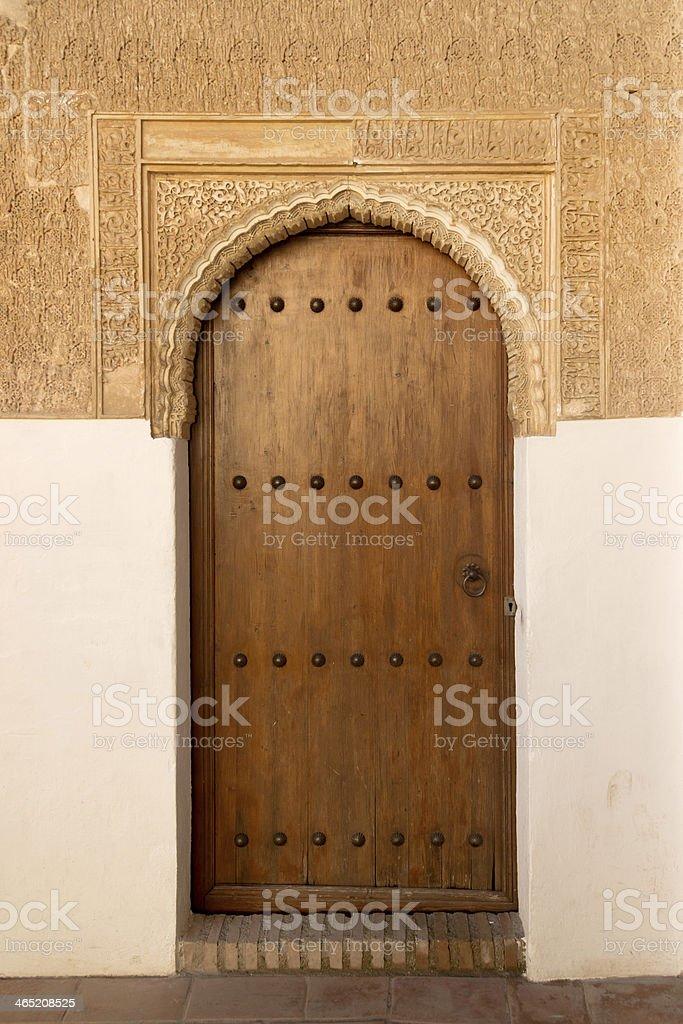 Alhambra door stock photo