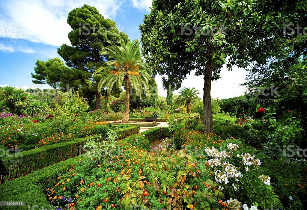 Alhambra garden royalty-free stock photo