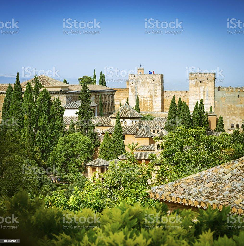 Alhambra gardens, Granada, Spain stock photo
