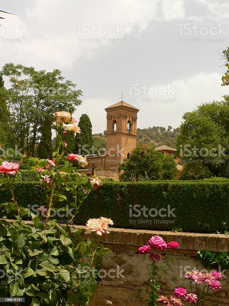 Alhambra, Granada, Spain stock photo
