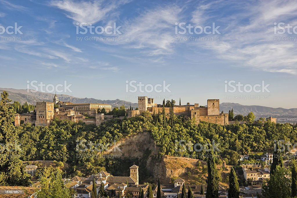 Alhambra Late Afternoon stock photo