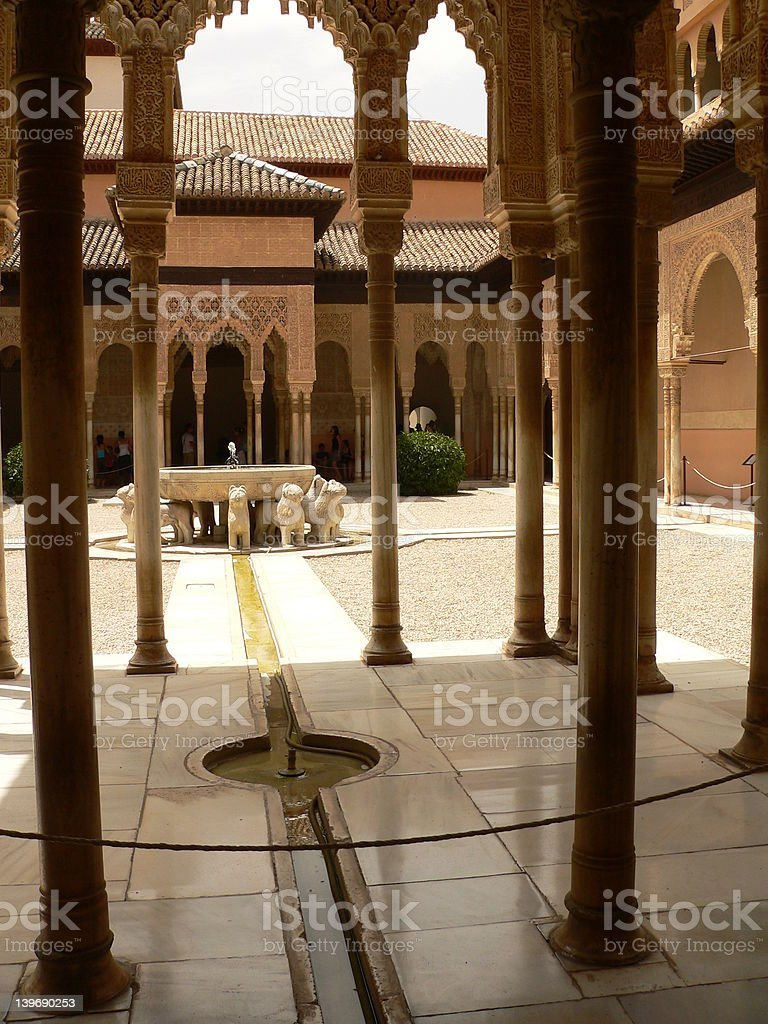 Alhambra Nazarie palace stock photo