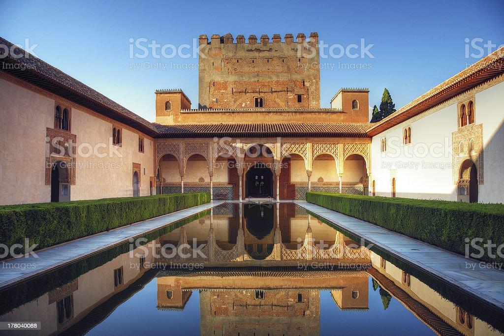 Alhambra palace, Granada, Spain stock photo