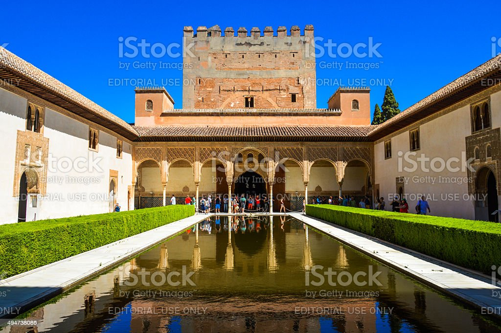 Alhambra, Palacios Nazaries stock photo