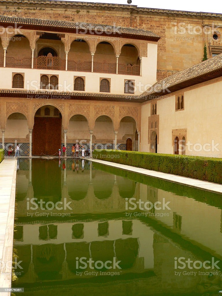 Alhambra parc view stock photo