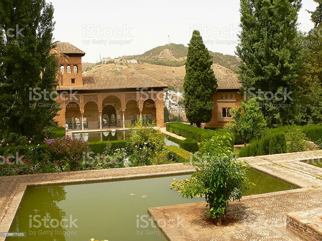 Alhambra parc view royalty-free stock photo