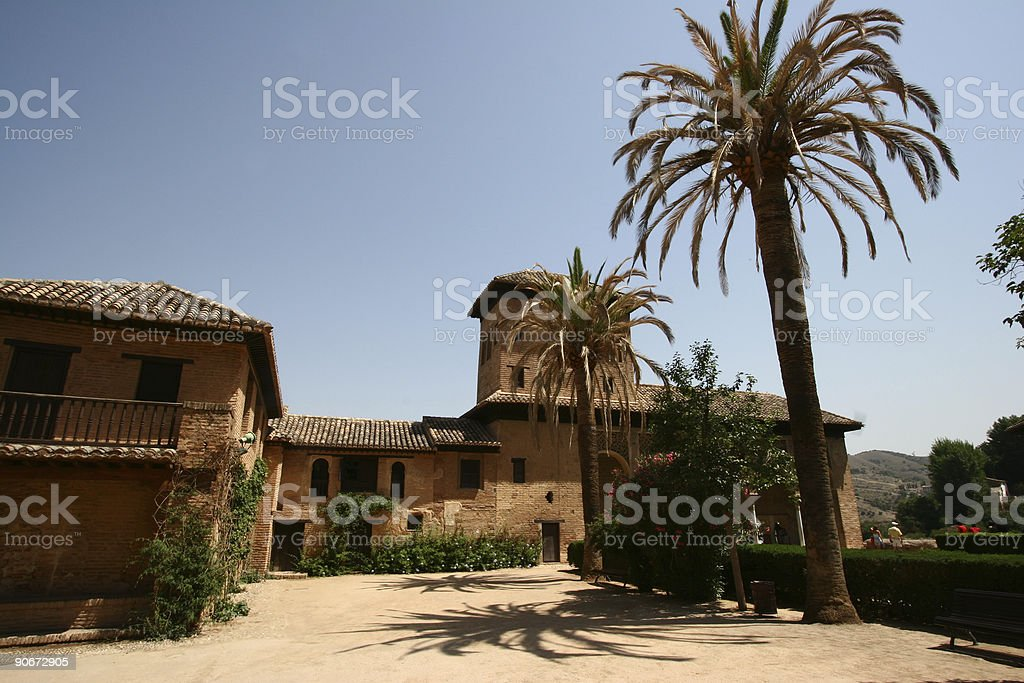 Alhambra parc view #2 stock photo