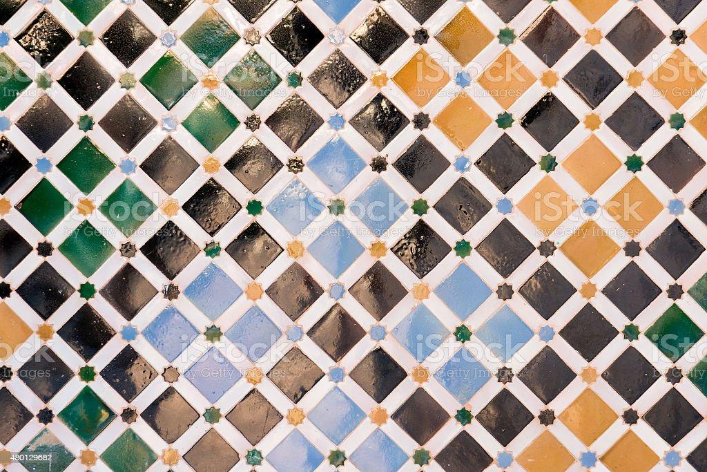 Alhambra tiles stock photo