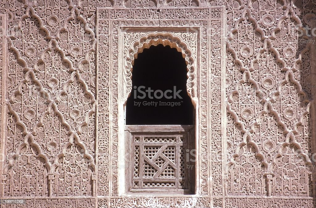 Ali Ben Youssef Medersa royalty-free stock photo