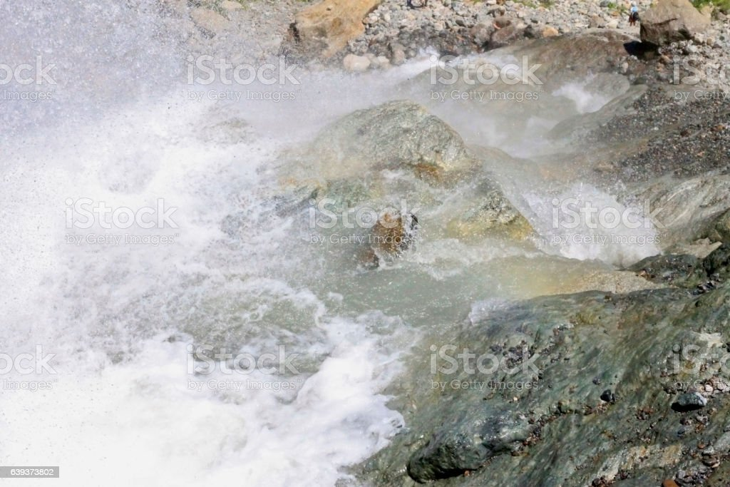 Alibek waterfall. Dombay mountains. The Northern Caucas stock photo