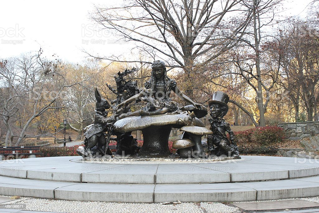 Alice in Wonderland Statue in Central Park royalty-free stock photo