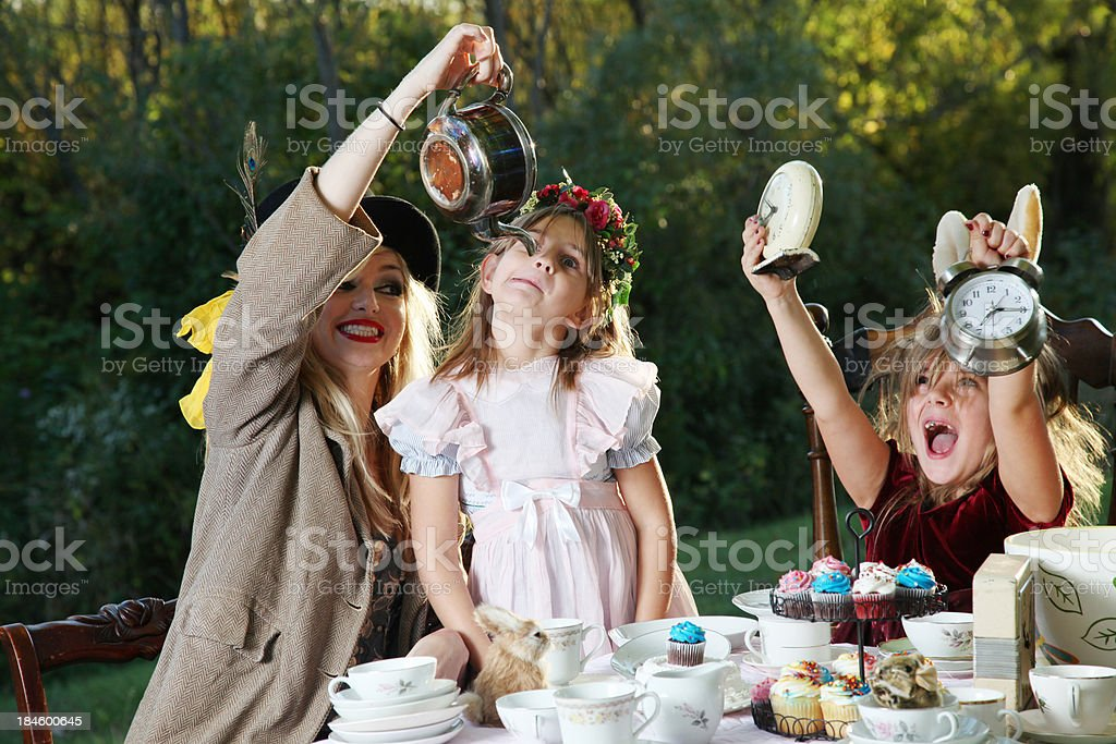 Alice in Wonderland Tea Party royalty-free stock photo