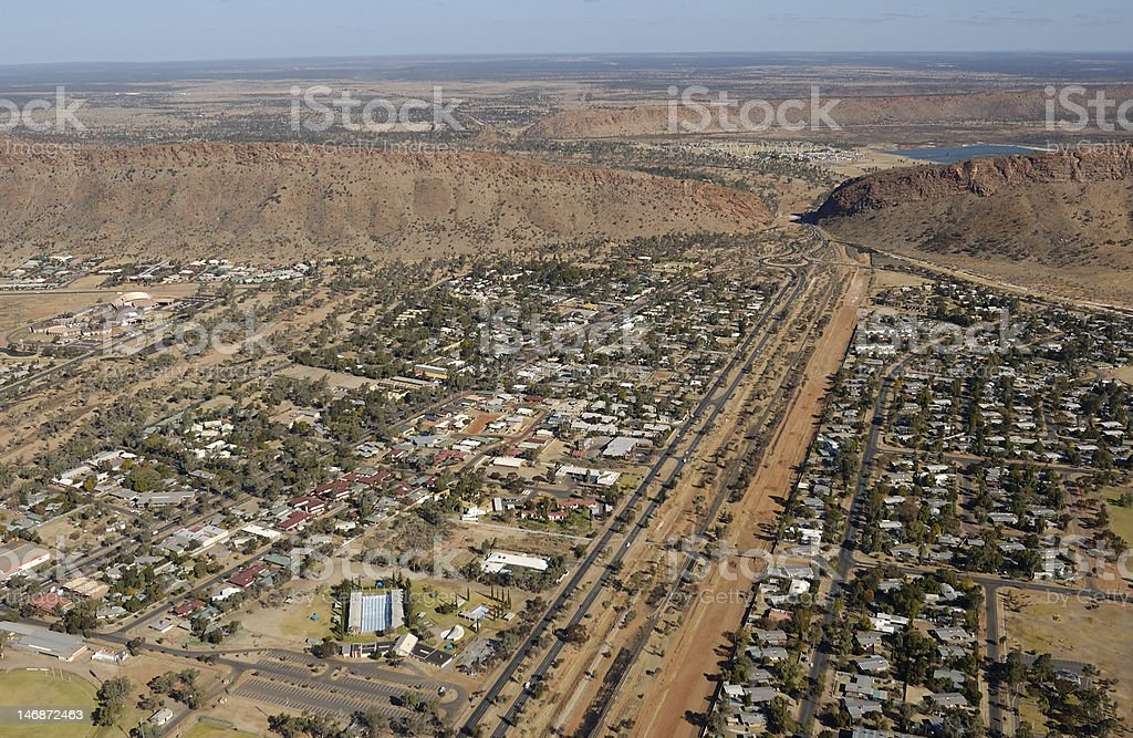 Alice Springs aerial royalty-free stock photo