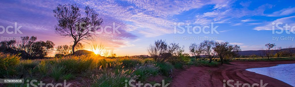 Alice Springs Sunset stock photo