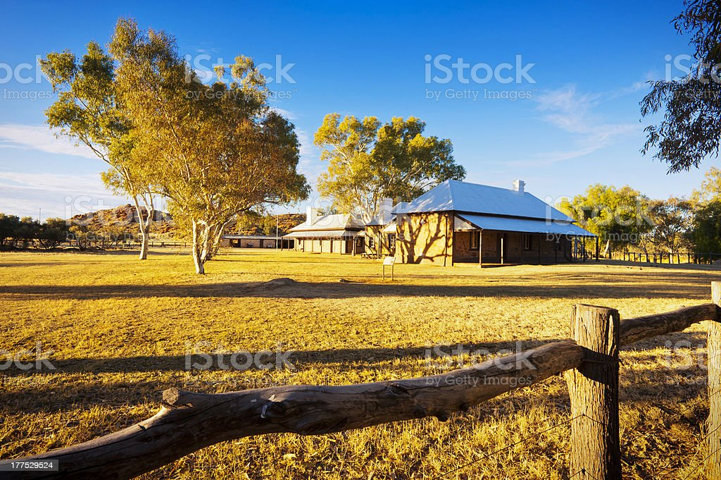 Alice Springs Telegraph Station stock photo