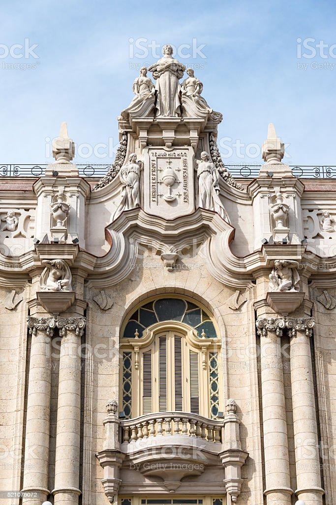Alicia Alonso National Theater. Havana,Cuba stock photo