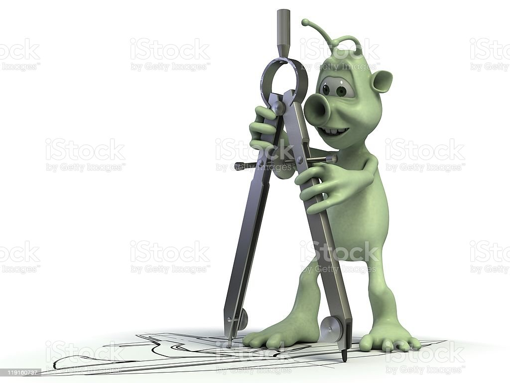Alien constructor royalty-free stock photo