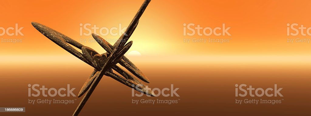 Alien Craft Sunset royalty-free stock photo