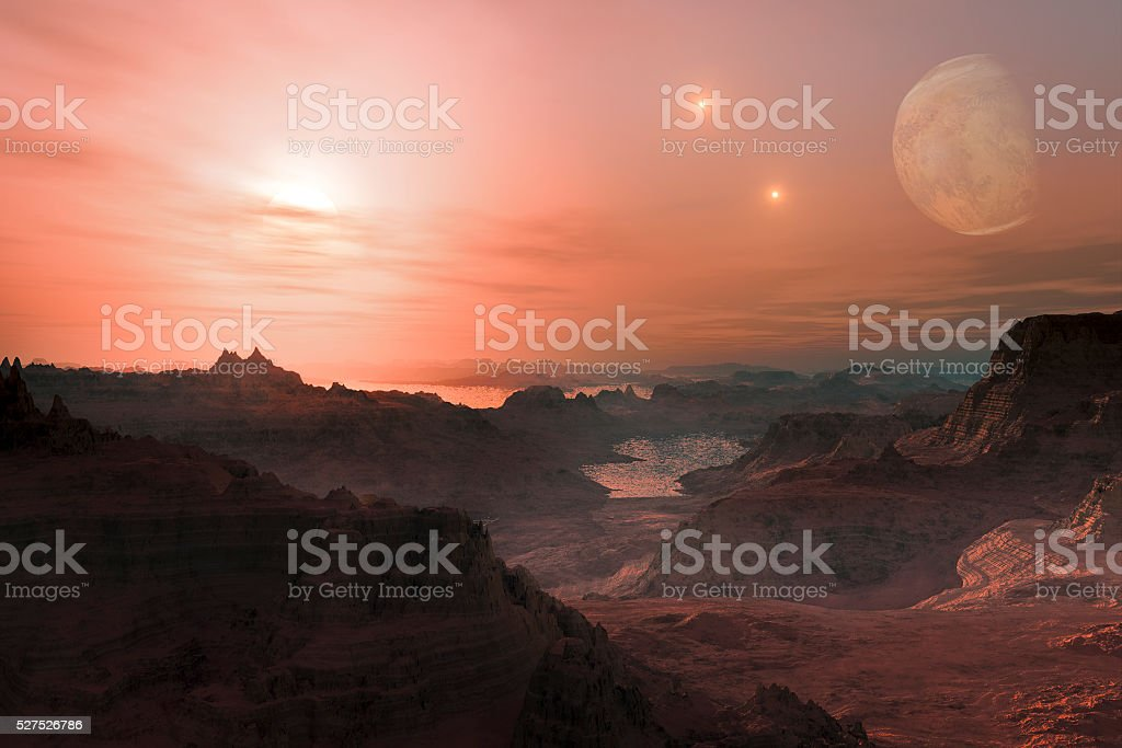 Alien Exo Planet. stock photo
