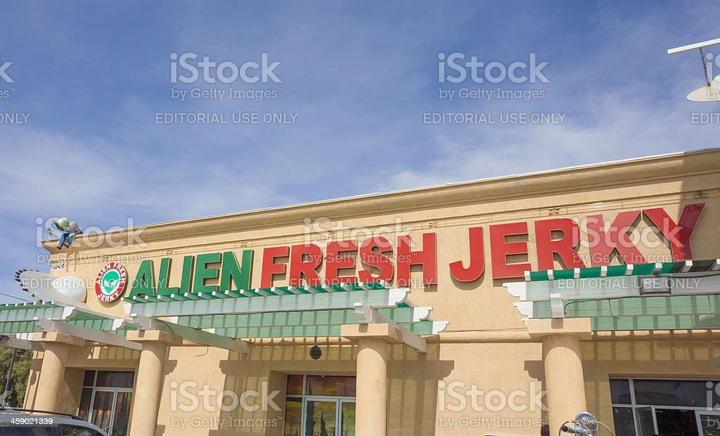 Alien Fresh Jerky stock photo