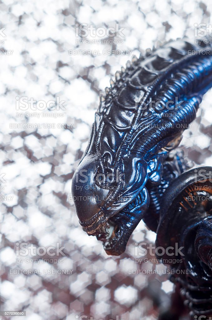 Alien from sci-fi movie stock photo