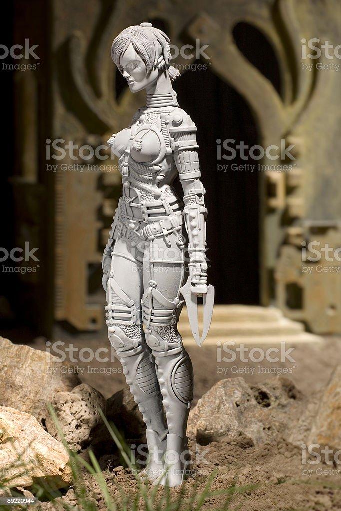 Alien grey female creature royalty-free stock photo