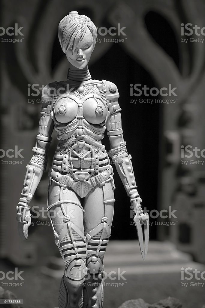 Alien grey female creature royalty-free stock photo