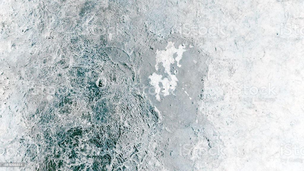 Alien ice planet - 1 stock photo